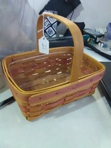 Longaberger Fixed Handle Small Market Basket with Plastic Liner - 1999 - $11.91