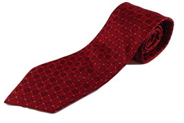Men's Tie Jhane Barnes silk red diamonds  - $14.99