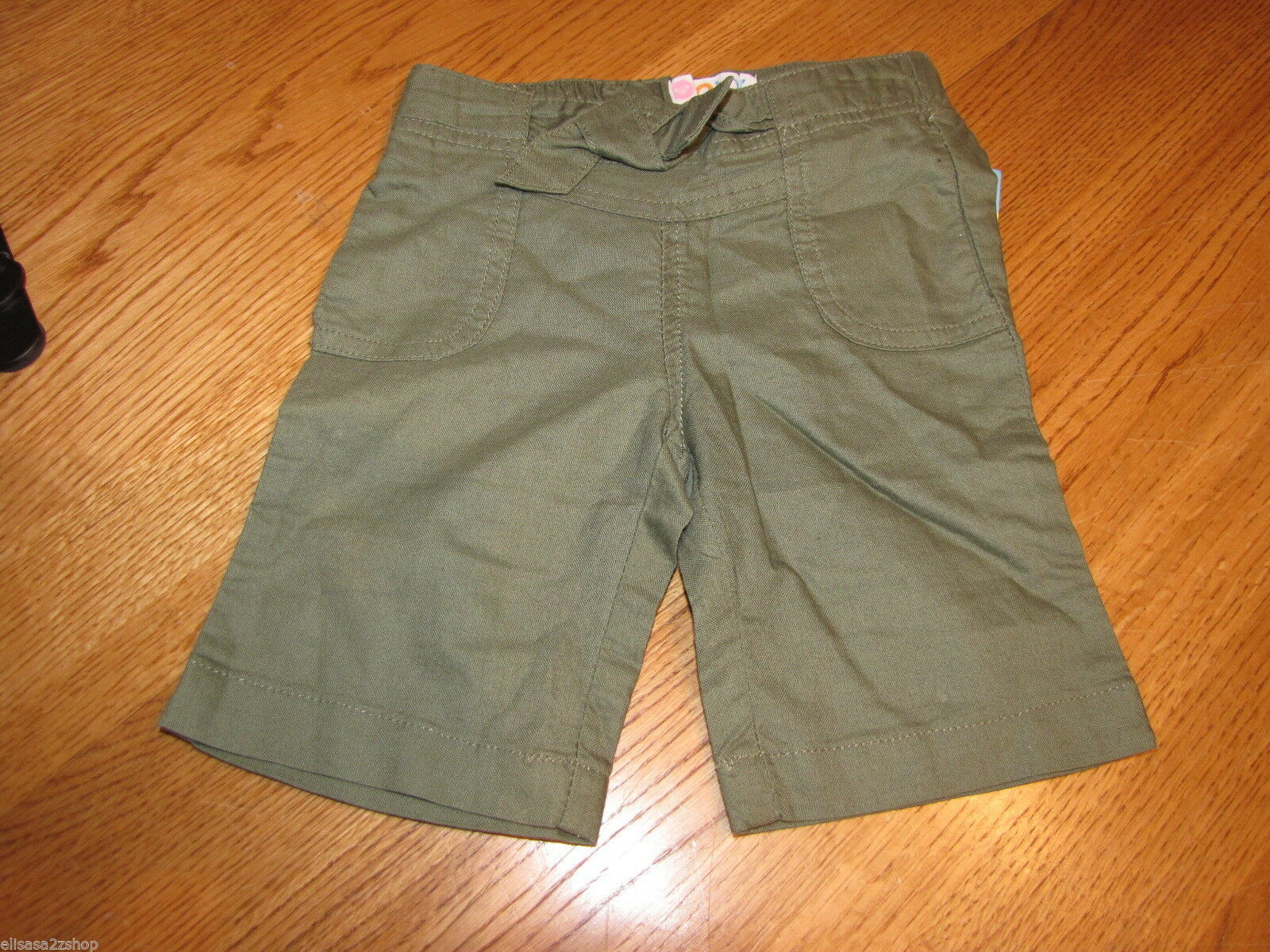 Primary image for Roxy Teenie Wahine girls 12 M month baby Super Hero Crop PT Olive Green NWOT ^