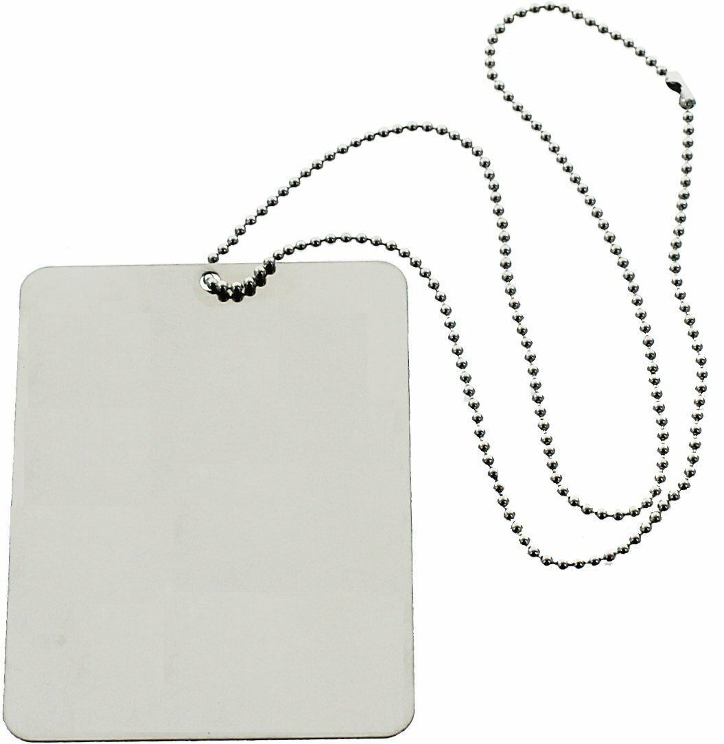 "Primary image for Camping Mirror & Chain Stainless Steel 3""x4"" Portable Handheld Compact Emergency"