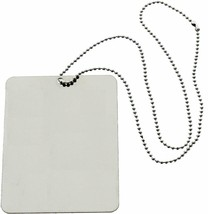 "Camping Mirror & Chain Stainless Steel 3""x4"" Portable Handheld Compact E... - $7.99"