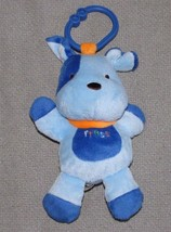 Child Of Mine Stuffed Plush Musical Blue Dog Ring Clip On Link Toy Lights Up - $19.79