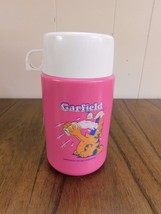 NICE Garfield the Cat Pink Plastic Lunch Box Thermos - $9.49