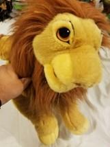Large Vintage Walt Disney Lion King Mufasa Plush Puppet Stuffed Toy Larg... - $58.79
