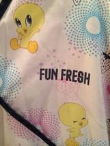 Scrub Tweety Bird Top Baby Looney Tunes V neck XL Short Slv Fun Fresh Warner Bro - $23.33