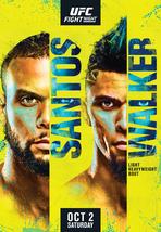 UFC Fight Night 193 Poster Thaigo Santos VS Johnny Walker Event Art Prin... - $10.90+
