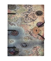 Map Print Special Binding With Button Handmade Journal Diary Notebook Ch... - $30.69