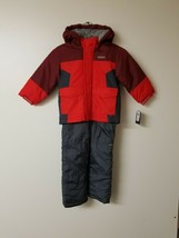OshKosh B_GoshBoys' Boys' Ski Jacket and Snowbib Set, Maple Leaf/Sneaker Grey, 4 - $26.11
