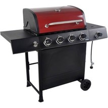 Clearance Red Gas 4-Burner Grill Outdoor BBQ Portable Patio Propane Cook... - £141.16 GBP