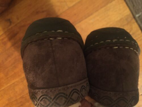 UGG BROWN SHEARLING LINED Loafer/Mocassin/Mule Flats Shoes SIZE 9