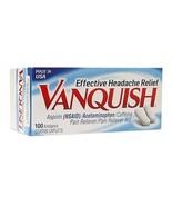 Vanquish Pain Reliever Coated Caplets 100 Count - $11.75