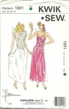 Kwik Sew Sewing Pattern 1891 Misses Womens Nightgown Size XS - XL New - $12.99