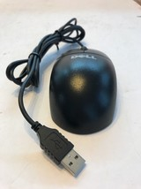 Genuine Dell Black USB Wired 3-Button Standard Scroll Mouse  (MO56UC) - $11.86