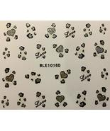 Nail Art 3D Decal Stickers Valentine's Day Love Gold & Silver Hearts - $7.43