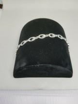 Guess Letter G Link Silver Tone Bracelet - $15.29