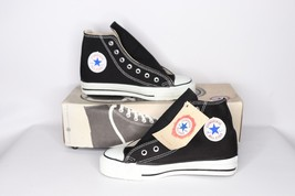 Vintage 90s New Converse Chuck Taylor Youth 1.5 All Star Hi Shoes Black ... - $114.79