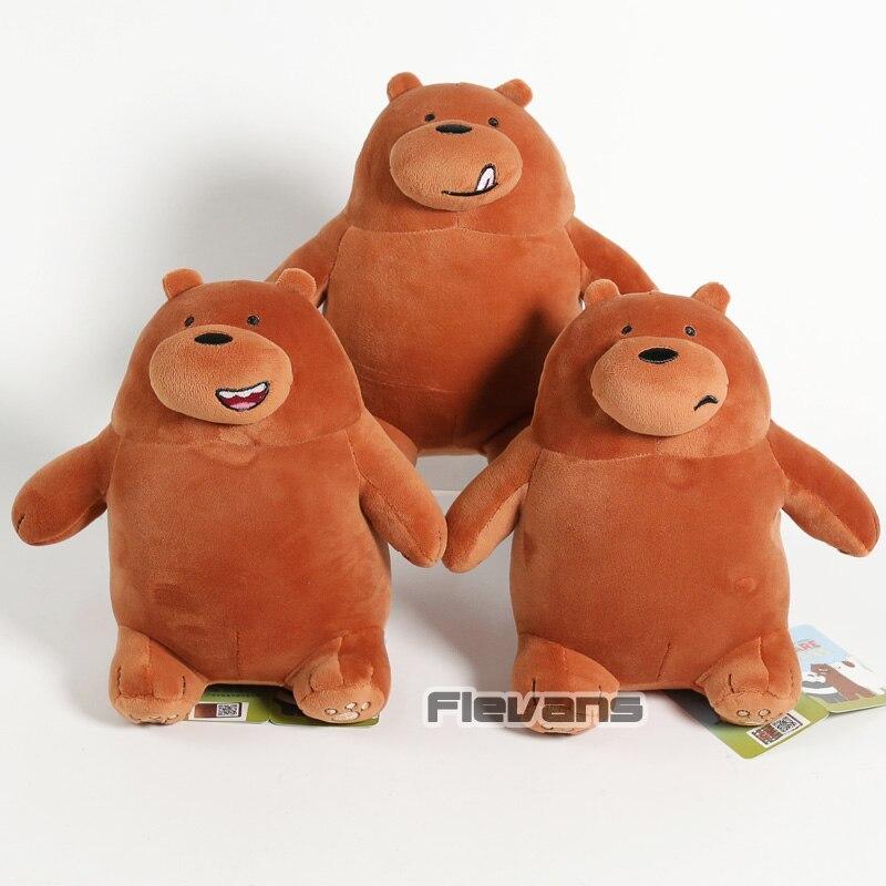 Cartoon We Bare Bears Grizzly Panda Ice Bear Koala Nom Nom Kawaii Plush Toys Sof