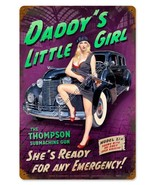 Daddy's Little Girl Gangster Mob Plasma Cut Greg Hildebrandt Pin Up Meta... - $29.95