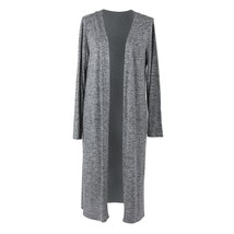 Hello Mello Carefree Threads Long Cardigan-Large Gray - $29.99