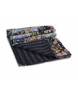 Paisley Print Kantha Quilt Twin Size Throw Bedspread Boho Hippie Gypsy B... - $54.37 CAD