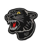 """BLACK PANTHER IRON ON PATCH 3"""" Embroidered Applique Growling Jungle Cat ... - $5.99"""