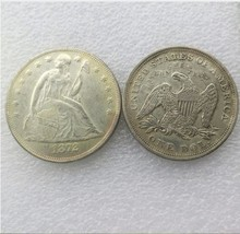 1872 SEATED LIBERTY SILVER DOLLARS - $7.00