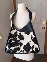OHH! AShley Leather Calf Hair Black Cross Body Shoulder Bag - $19.99