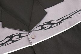Men's Casual Two Tone Biker Cross Premium Guayabera Bowling Dress Shirt image 10