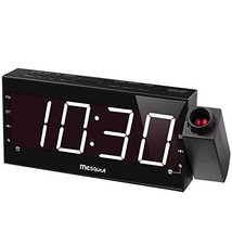 """Mesqool 7"""" Projection Alarm Clock for Bedrooms, Ceiling, Kitchen, Desk, ... - $30.84"""