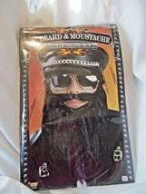 """Beard Costume Bad Biker 8"""" Beard Black Elastic Hold On Forum - $5.93"""