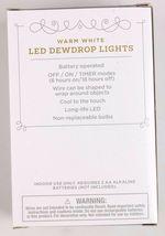 "4X Wondershop Dewdrop String LED Lights 30 ct Warm White Copper Wire 10'9"" New image 3"