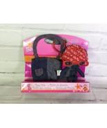 Mattel Barbie Mini Denim Bear Stuffed Plush & Take a Long Tote Bag Keych... - $27.71