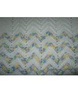 White Hand Knitted Crochet Baby Blanket - $26.64