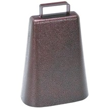 7 Inch Steel Cow Bell with Handle and Antique Copper Finish - $14.70