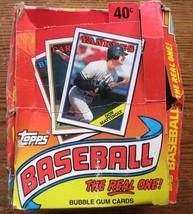 Box 1988 Topps Baseball Cards, 32 Sealed Packs in Box, Not Professionally Graded - $4.94
