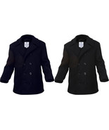 Wool Peacoat US Navy Style Military Cold Weather Heavyweight Jacket - $92.99+