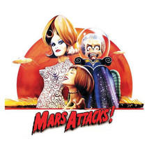 Mars Attacks T-shirt retro 1990's sci-fi movie 100% cotton graphic printed tee image 2