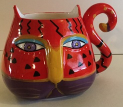 Laurel Burch Red Cat Mug by Westland Giftware Copyright 2014  - $14.99