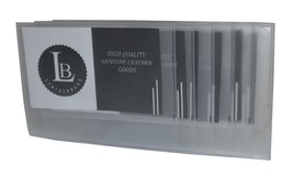 Plastic Secretary Inserts for Long Wallets- 6 Pages (1  pcs) - $15.97