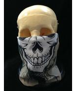 Face Shield SKELETON SKULL MASK Seamless Scarf Hat Bandanna Wrap Dust Pr... - $4.87