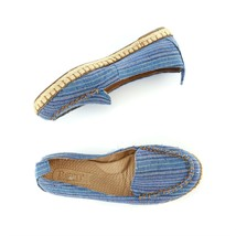 Born Blue Striped Canvas Espadrille Flats Loafers Casual Shoes Womens 6.... - $39.48