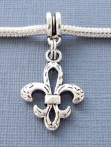 Charm Pendant Dangle FLEUR DE LIS Fits European Charm Bracelet /Necklace... - €2,52 EUR