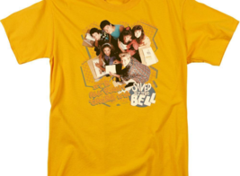 Saved by the Bell Zack, Slater, 80's retro TV series graphic gold tee NBC564 image 3