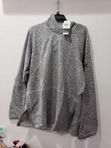 adidas Men's Cross-Over Pullover Hoodie Athletic Sweatshirt Gray XL NWT New - $24.74