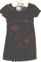 GIRLS RED SPARKLE FLOWER DRESS SIZE 2T - $3.00