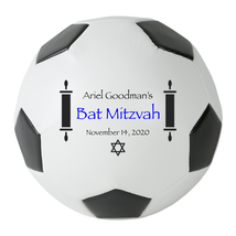 Personalized Custom Regulation Size Soccer Ball Bat Mitzvah Gift and Cen... - $59.95