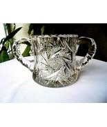 Hand Cut Crystal Table Sugar Bowl - $9.90