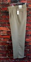 NEW Oak Hill Men's Dress Pants 42x32 Microfiber Pleated Beige NWT - $17.35
