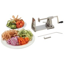 Stainless Steel Vegetable Spiral Maker Cutter Slicer Curly Potato French... - $24.21