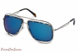 Emilio Pucci Femmes Lunettes de Soleil Aviateur EP0003 89X Turquoise/Bleu - $136.21
